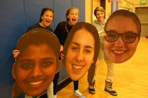 Middle schoolers bring the spirit for High School Girls Basketball Senior Night 2017